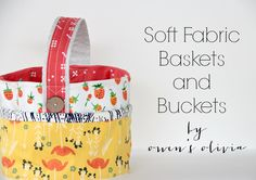After months of winter, I am longing for spring.   With Easter around the corner, I am sharing with you soft fabric baskets you can make in one evening.  Use these for a custom Easter basket, and use them the rest of the year to organize small items or crafts in your home. Baskets are approximately 5' high and