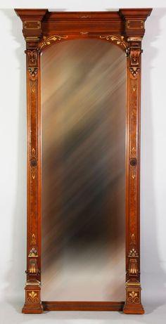 Victorian Pier Mirror, Gilt Decorated