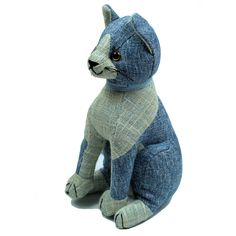 Blue Tabby Cat Doorstop By Dora Designs - A Bentley Cushions
