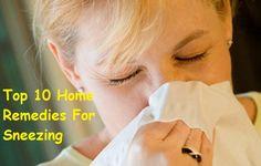 Top 10 Home Remedies For Sneezing #top10 #homeremedies #sneezing