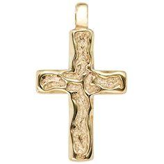 Dreambase Damen-Anhänger Kreuz gehämmert 14 Karat (585) Gelbgold Dreambase http://www.amazon.de/dp/B00EYH83D6/?m=A37R2BYHN7XPNV