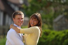 Happy couple at Glenwood Gardens! #Cincinnati #engagement #weddingstyle