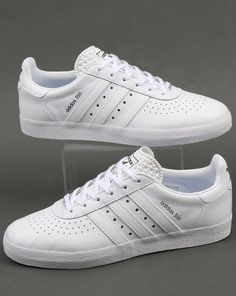 0dfa4711be1 Adidas Originals - Adidas 350 Trainers In Triple White Leather