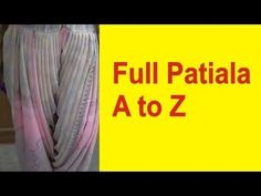 how to make full patiala salwar cutting and stitching Patiala Pants, Patiala Dress, Patiala Salwar Suits, Punjabi Suits, Girls Dresses Sewing, Dress Sewing Patterns, Baby Dresses, Fashion Designing Course, Salwar Pattern
