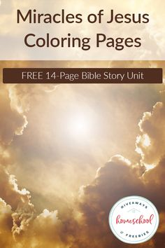 Do your children enjoy coloring or keeping their hands busy while you read them a story? These FREE Miracles of Jesus Coloring Pages are a great tool to help you keep your kids engaged in the story and help them commit it to memory while they work. Free Homeschool Curriculum, Homeschooling, Christian Parenting, Christian Homeschool, Short I Words, Jesus Coloring Pages, Miracles Of Jesus, Scripture Memorization, Raising Godly Children
