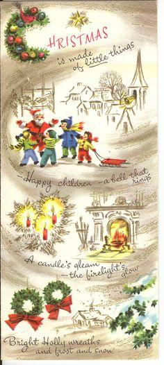 Gold-Swooshed Christmas Vignettes   by franceseattle