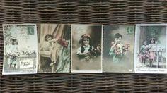 Oude Brocante Ansichtkaarten Set 12 Kinderen