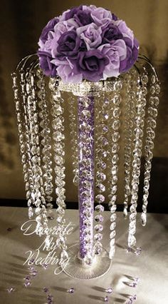 Great wedding decorations for your crystal wedding theme. Bling Centerpiece, Sweet 16 Centerpieces, Crystal Centerpieces, Rustic Wedding Centerpieces, Table Centerpieces, Wedding Decorations, Centrepieces, Bling Wedding, Crystal Wedding