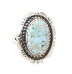 Navajo Silver Dry Creek Turquoise Women's Ring Size 7 Native American #IndianJewelryStore