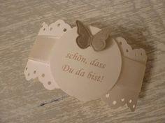 Serviettenring aus Papier mit Text drauf - nette Idee