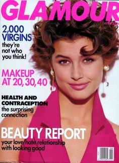 Glamour US, April 1992Model: Bridget Moynahan