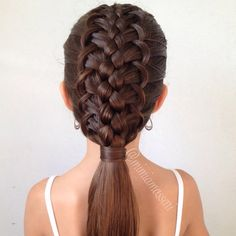 5 strand French Loop Braid by @mimiamassari