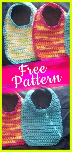 49 Ideas Crochet Patterns Baby Bibs Shower Gifts For 2019 Crochet Baby Bibs, Crochet Baby Blanket Beginner, Crochet Gratis, Crochet Baby Booties, Crochet For Kids, Baby Knitting, Free Crochet, Crochet Baby Stuff, Cotton Crochet
