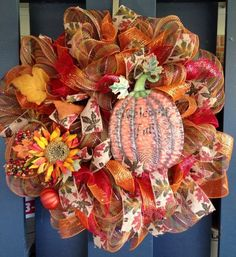 Fall Wreath www.facebook.com/DeborahsWreaths
