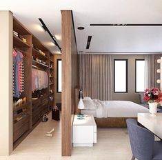 Dressing Room Design, Cozy Small Bedrooms, Diy Home Accessories, Luxurious Bedrooms, White Kitchen Design, Diy Living Room Decor, Small Bedroom, Room, Room Design