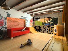 Cool Skateboard Bedroom