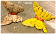 Vlinders raku Butterflies raku