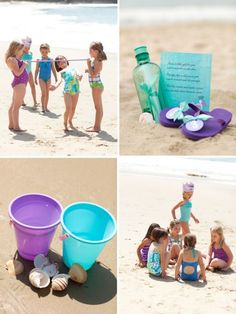 Mermaid Party with lots of fun ideas for beach party games (just need to change it to...um...merMAN party) :)