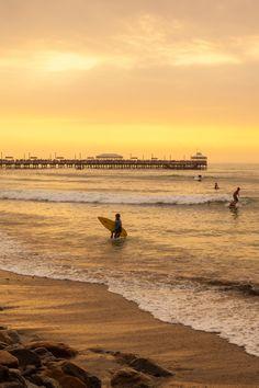 Huanchaco Beach in Trujillo, Peru