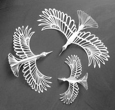 Christmas Bird, Christmas And New Year, Paper Art, Paper Crafts, Bird Crafts, Parchment Craft, Kirigami, Paper Cutting, Robin