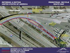 US Plaza - Bike to the Bridge diagram