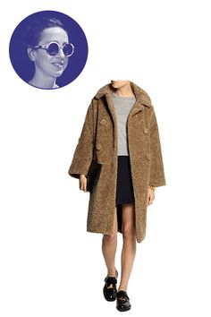 """Two of my favorite things rolled up into one: a fun winter coat and ... a teddy bear. Sonia by Sonia Rykiel faux fur """"teddy bear"""" coat."""