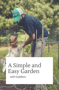 A guide for making a sweet, simple, and easy garden with toddler