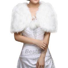 New-Evening-Dress-Wedding-Cape-Faux-Fur-Warm-Wrap-Shrug-Bolero-Coat-Shawl-Scarf