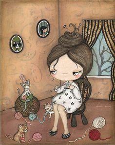 Knitting for Kittens by Kelly Ann, the poppy tree
