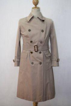 2fe3e4b77c2d Womens BURBERRY London 3 4 Length Belted Trench Over Coat S XS Khaki