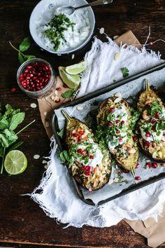 Middle Eastern stuffed Eggplants