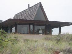 all glass beach house
