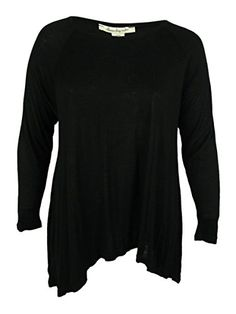 American Rag Womens HiLow Tunic Top 1X Classic Black * To view further for this item, visit the image link.Note:It is affiliate link to Amazon. #commentbackteam