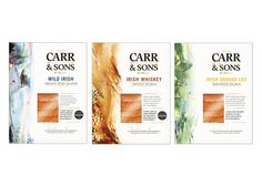 Honeys redesign of Carr & Sons Irish Smoked salmon Packaging - Illustrations by Phillipa Sinclair