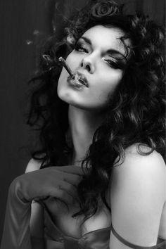 smoking women Hairy mature