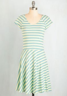 Effortless Charm Dress. The dress code may be casual, but you still look super cute in this cotton A-line dress by Synergy! #mint #modcloth