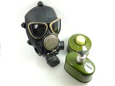 Vintage Gas Mask  Military Gas Mask GP-7KS Never by ContesDeFees