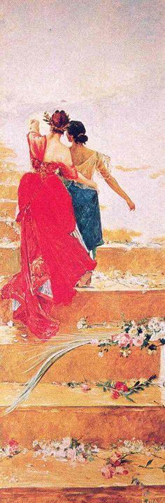 Espana y Filipinas - 1886 - Juan Luna - oil on wood - Lopez Memorial Museum