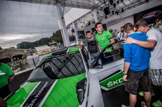 "Jan Kopecký in concentration before the ""race"" start on Wörthersee.  #drift #donuts #r5 #skoda motorsport #kopecky"