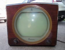 Round screen vintage televisions what necessary