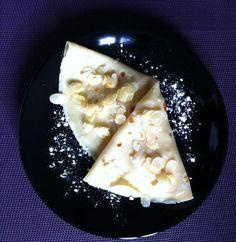 Crêpes aus pommes caramélisées et amandes effilées
