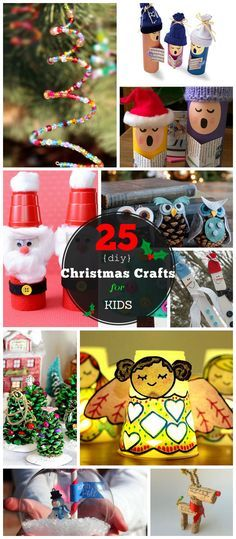 Click for 25 DIY Christmas Crafts for Kids to Make NOTE: ADORABLE cardboard house village!