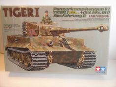 Model Artillery Kits - Tamiya 135 PzKpfw VI Tiger I SdKfz181 Ausf E Late Version Model Kit 35146 *** Click image for more details.