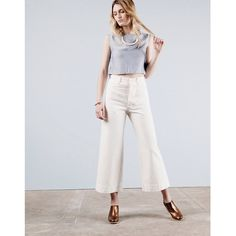 The @jessekamm Chop Top and Sailor Pant + @rachel_comey Mars Mule in Bronze.