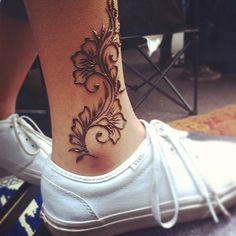 floral henna strip  | Henna Trails #mehndi #henna