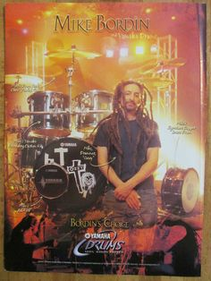 Mike Bordin, Faith No More, Yamaha Drums, Full Page Promotional Ad