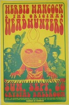Herbie Hancock Headhunters Crystal Ballroom Concert Poster Portland Oregon
