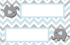 Elefante Bebé en Celeste y Gris: Invitaciones y Etiquetas para Candy Bar para Imprimir Gratis. Juegos Baby Shower Niño, Imprimibles Baby Shower, Elephant Baby Showers, Baby Elephant, Baby Boy Shower, Baby Stickers, Baby Shawer, Welcome Baby, Baby Boy Rooms