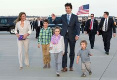 Justin Trudeau, wife Sophie Grégoire-Trudeau and children Xavier, Ella-Grace, and Hadrien are on a three-day trip. Trudeau, has been compared to President Barack Obama. Justin Trudeau, Barack Obama, Sophie Gregoire Trudeau, Trudeau Canada, Jessica Mulroney, Inspirational Leaders, Toronto Star, Important People, High Society