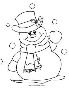 pupazzo di neve   Pupazzo di neve: disegno da colorare - Tutto Disegni